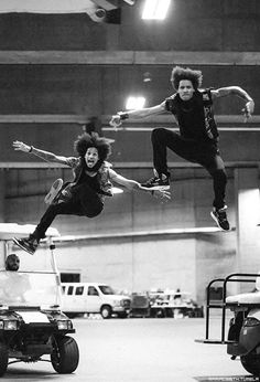 """"""" Les Twins, Larry and Laurent / 2014 (The Mrs. Carter Show world tour"""