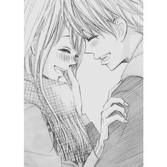 Anime Couples ❤ liked on Polyvore featuring anime and pictures - grey