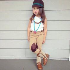 kid style : little twig necklace by Twine & Twig