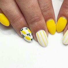 23 Great Yellow Nail Art Designs 2019 - Yellow Nails Design - Best Nail World Yellow Nails Design, Yellow Nail Art, Cute Nails, Pretty Nails, My Nails, Perfect Nails, Gorgeous Nails, Nail Art Designs, Lemon Nails