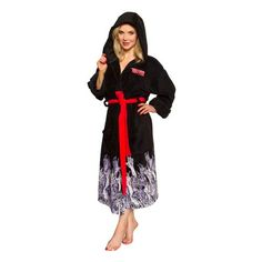 The Walking Dead Black Hooded Adjustable Bath Robe - Underboss - Walking Dead - Bed and Bath at Entertainment Earth