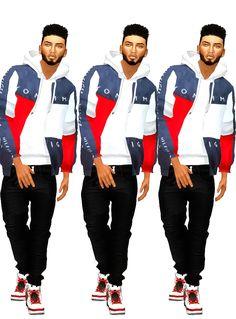 The Sims 4 mody do gry: Modna kurtka Kobe dla The Sims 4 od Ebonix Sims 4 Teen, Sims 4 Toddler, Sims Cc, My Sims, Sims 4 Male Clothes, Sims 4 Cc Kids Clothing, Male Clothing, Teen Clothing, Men Clothes