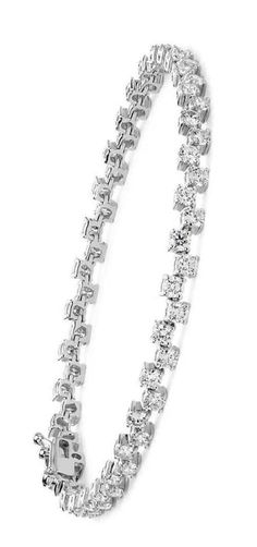 Scattered Diamond Bracelet in 18k White Gold   Wedding Jewelry