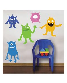 Your little monsters will love this Wallies Peel & Stick Giant Monsters Mural. The kit is an innovative and inexpensive way to add a theme or make a feature wall in any child's bedroom or playroom. Wallies self adhesive stickers are easy to apply and can be removed and repositioned easily without marking the surface below.