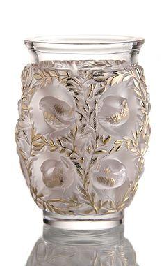 Lalique Bagatelle Gold Vase