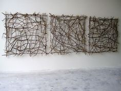 Organic Art by Paul Schick – Greige Design Twig Crafts, Nature Crafts, Wood Crafts, Line Sculpture, Wall Sculptures, Twig Art, Branch Art, Branch Decor, Deco Nature