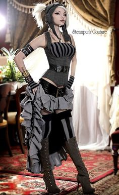 Steampunk Couture  Boring face and pose - awesome outfit