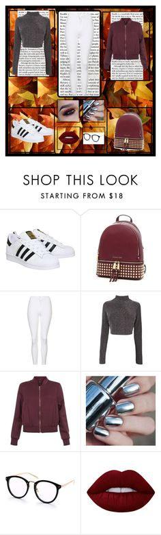"""Fall"" by killerbarbiexoxo-123 ❤ liked on Polyvore featuring adidas, MICHAEL Michael Kors, Topshop, New Look and Lime Crime"