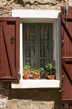 Flower Pots In Window by LaVeta Jude, via Flickr