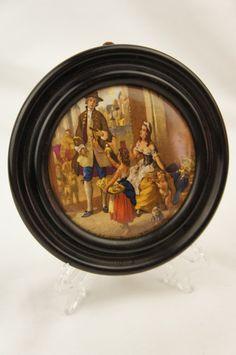 19th Century Framed Prattware Pot Lid Cries of London Series Yellow Primroses by TheLotAntiquesandArt