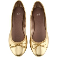 H Ballet pumps £7.99 ($13) ❤ liked on Polyvore
