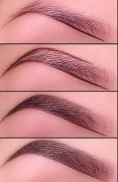 Good steps showing how to outline and fill in your brows! http://pintutorials.blogspot.com/2013/12/perfect-eyebrows.html?m=1