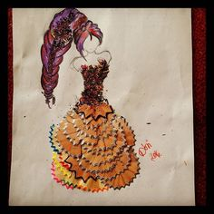 Hogyan hasznosítsunk újra kreatívan  #art #creative #draw #purple #pencil #colorpencil #pencildrawing #fashion #design #photooftheday #myart #beautiful #unique #new #clothes #dress