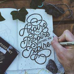 """Travel Lettering"" by Adam Vicarel on Behance."