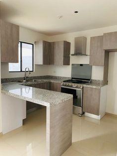 Simple Kitchen Design, Kitchen Room Design, Home Room Design, Small House Design, Kitchen Cabinet Design, Kitchen Layout, Home Decor Kitchen, Interior Design Kitchen, Kitchen Ideas