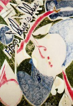 How Blue Is Blue, oil on canvas. Lee Krasner   ineedartandcoffee: More Paintings By Lee Krasner