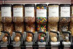 bulk snacks for employees . Royal Blue Bedding, Aqua Bedding, Snack Station, Snack Bar, Micro Kitchen, Peanut M&ms, Google Office, Office Snacks, New York Office