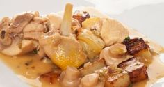 Receta de Pollo al ajillo con champiñones