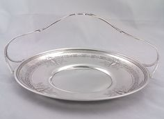 Early 20th century American Sterling silver handled bread / treat tray by tlgvintageart on Etsy