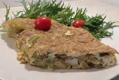 Vegetarian Celery Potato frittata