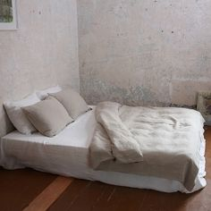 Off White Washed Bed Linen Duvet