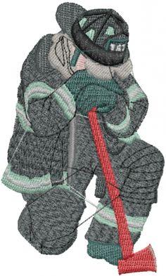 Fireman embroidery design  AnnTheGran.com