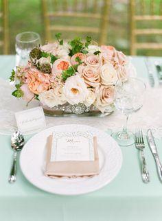 Dreamy Pastel Wedding Place Setting | Tamara Gruner Photography