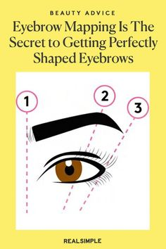 Eyebrow Mapping Is The Secret to Getting Perfectly Shaped Eyebrows | Brow experts explain what eyebrow mapping is, plus the easiest way to do it at home for beautiful and matching eyebrows that will fit your face perfectly and frame your eyes beautifully. #beautytips #realsimple #skincare #makeuphacks #bestmakeup Beauty Advice, Beauty Hacks, Eyebrow Trends, How To Do Eyebrows, Real Simple Magazine, Here's The Thing, Brow Shaping, Perfect Brows, One Hair