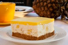 Cheesecake, Romanian Food, Favorite Recipes, Sweets, Desserts, Cakes, Drink, Pineapple, Pie