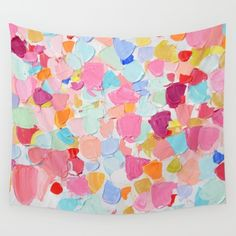 Amoebic Confetti Wall Tapestry