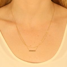 gold tubits necklace