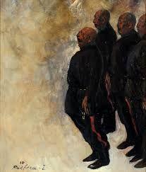 「ドン・コサック合唱団」 1968年 油彩 53.0*45.5