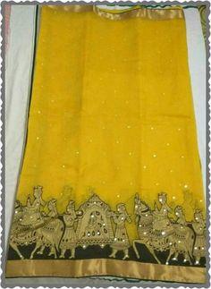 Pure kota saree with pallaki border Order what'sapp 919573737490 Simple Saree Designs, Simple Sarees, Latest Indian Saree, Indian Beauty Saree, Indian Sarees, Chiffon Saree, Cotton Saree, Pattu Saree Blouse Designs, Sari Blouse