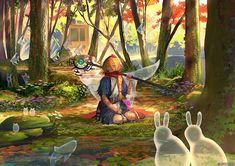 New Ideas Animal Art Digital Anime Girls Fantasy Art Landscapes, Fantasy Landscape, Giant Animals, Art Studio Design, Forest Illustration, Writing Art, Dark Fantasy Art, Cute Art, Art Reference