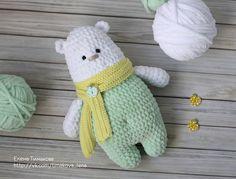 Вязаная игрушка полярный мишка Архип крючком