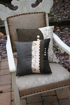 Heirloom Lace 8  Recycled PILLOW COVER  14 by EmmaDear on Etsy, $25.00   Sweet!