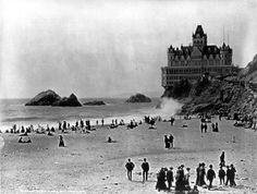 Cliff House Beach San Francisco   Retro Snapshots - Old Black & White Photos, Vintage Posters ...