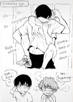 Manga Haikyuu, Haikyuu Funny, Haikyuu Fanart, Haikyuu Ships, Kageyama Tobio, Haikyuu Karasuno, Anime Cupples, Fanarts Anime, Anime Chibi