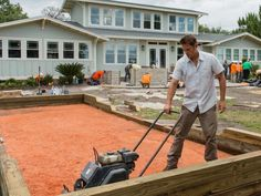 building a backyard bocce ball court right outside your door.
