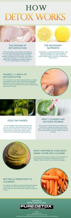 How Detox Works infographic