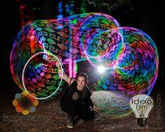 Matt Porretta and his LED Hula Hoop
