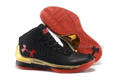 6c1f092a107 Under Armour UA Curry One Black Gold Red Shoes For Sale