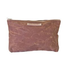 Large Waxed Canvas Pouch, Spice // whitesmercantile.com