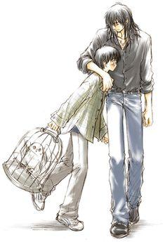 A Brief Hug. by yukipon