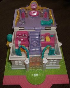 Dolls & Bears Polly Pocket Vintage Polly Pocket 1989 Midge's Play School Yellow 100% Complete Elegant In Smell
