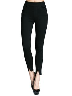 Casual Women Solid Split Skinny Leggings  Attention:Please note that you should place your order in US size however the tags inside the items will show in Our Asian(Type)size.The size table is only for referenceplease choose right size according to your dressing habits such as slim or loose fit.If you like loose fit please choose a larger size than the reference.Thanks Package included: 1 Leggings More details: Disclaimer : About Size: Size may be 2cm/1 inch inaccuracy due to hand…