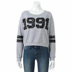 Mighty Fine ''1991'' Crop Sweatshirt - Juniors #Kohls101