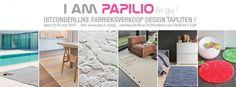 Uitzonderlijke Fabrieksverkoop Papilio Design Tapijten -- Kuurne -- 25/05-20/07