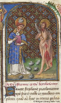 Saints Stephen and Bartholomew. Book of Hours Northern France or Flanders, ca. 1445 M.287 fol. 149v
