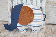 eco-friendly stuffed elephant made from reclaimed fabrics